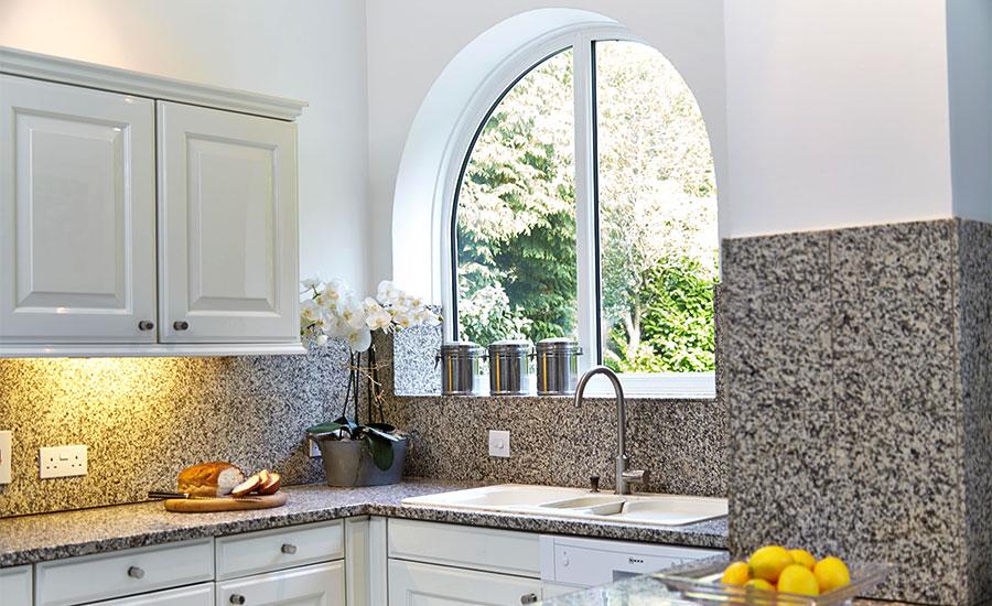 Shaped White UPVC Casement Window Winton23061